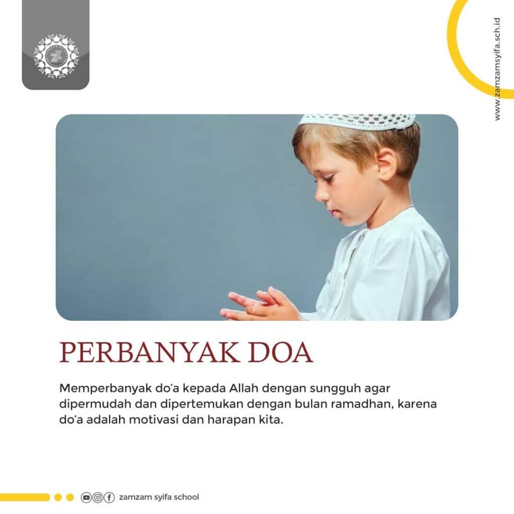 Persiapan Ramadhan 1441 H Zamzam Syifa Boarding School